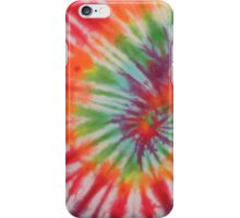 Retro Colorful Psychedelic Tie Dyed Pattern iPhone Case/Skin