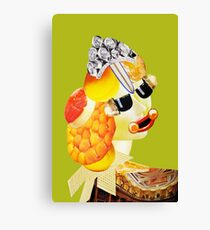 peach hair green Canvas Print