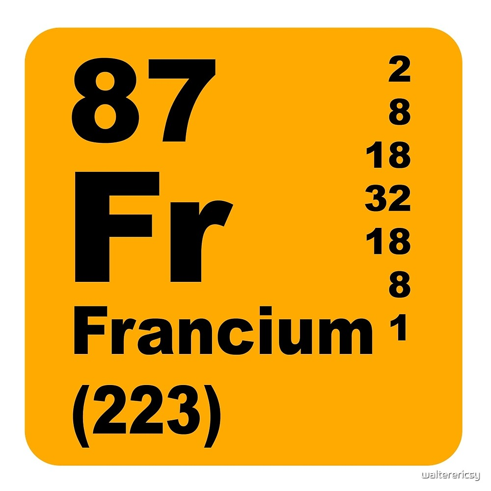 Francium periodic table of elements by walterericsy