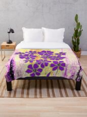Flowers in Purple Throw Blanket