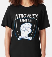 Introverts Unite Separately Slim Fit T-Shirt