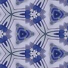 Blue Purple Sphere Dance Two geometric abstract pattern - jenny meehan by JennyMeehan