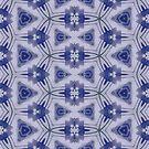 Blue-purple Sphere Dance Three geometric abstract pattern - jenny meehan by JennyMeehan
