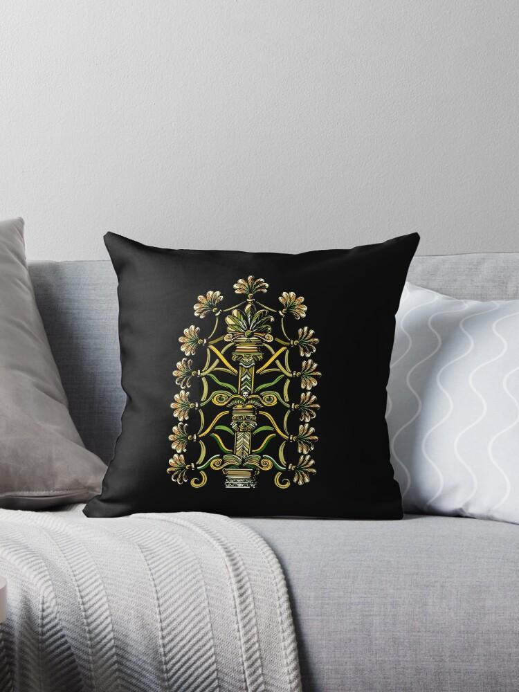 'Anunnaki Aliens Tree Of Life Ancient Sumerian Conspiracy' Throw Pillow by  Nikolay Todorov