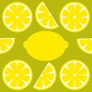 Lemons pattern design by Angela Sbandelli