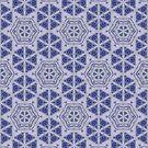 Blue Purple Sphere Dance Six geometric abstract pattern - jenny meehan by JennyMeehan