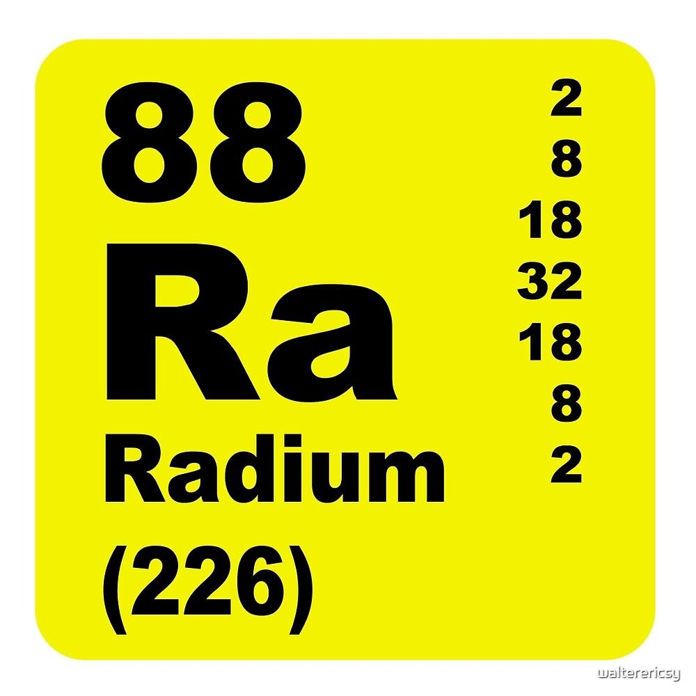 Radium Periodic table of elements by walterericsy