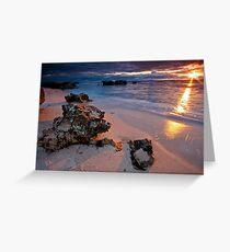 Last rays...Trigg Beach, Perth Greeting Card