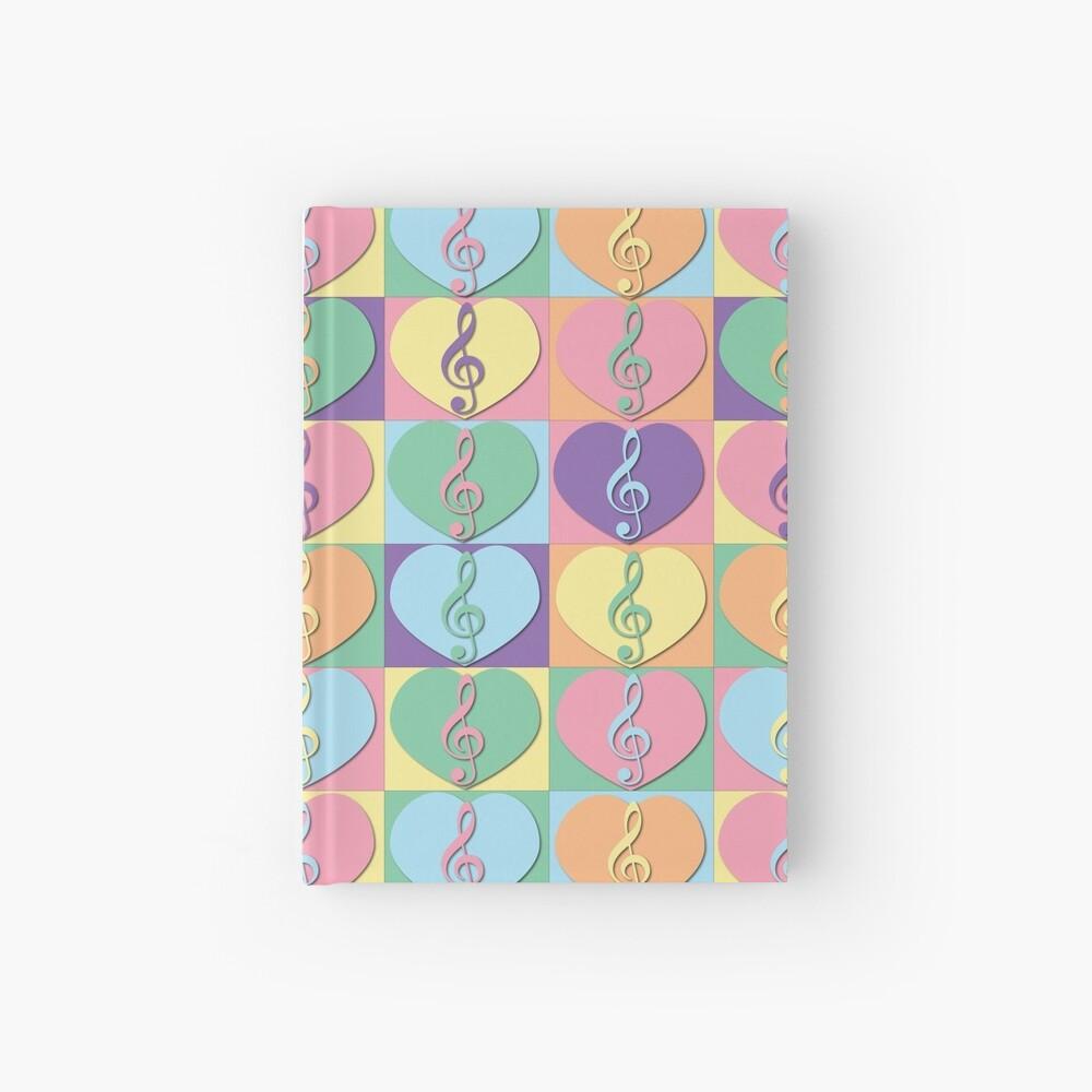 Treble Clefs and Hearts Cuaderno de tapa dura