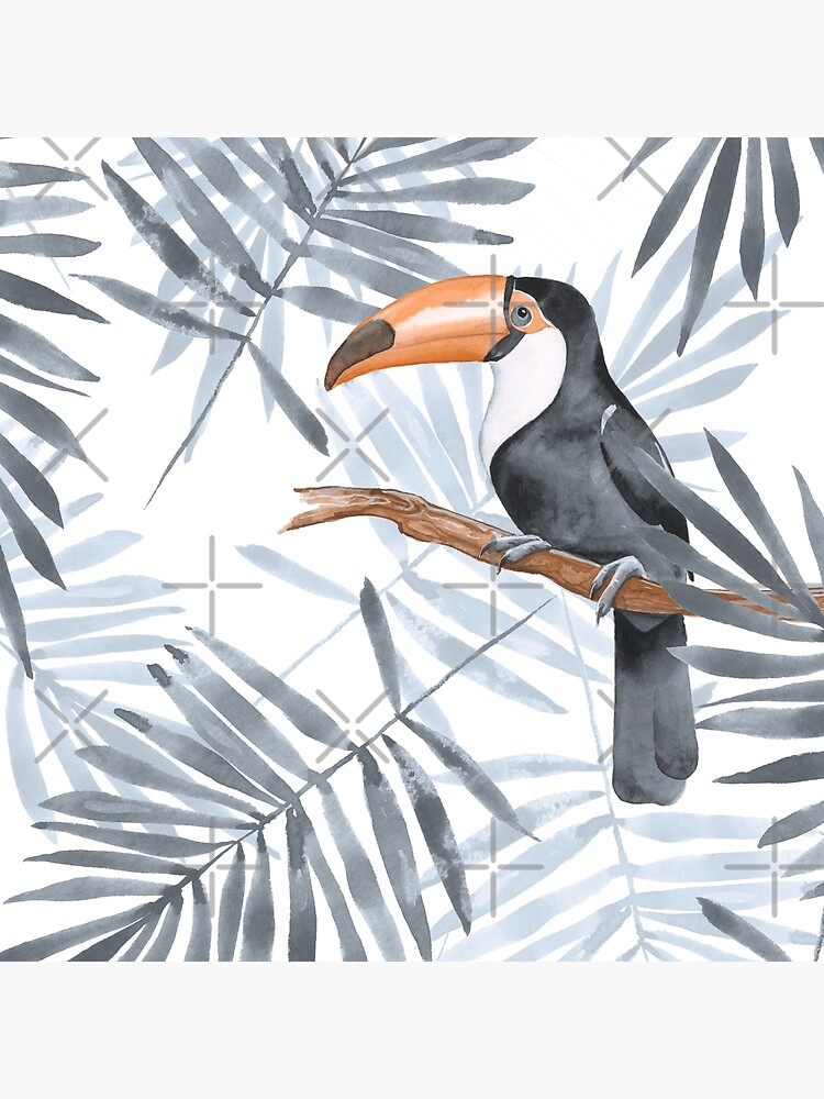 Palm leaves and Toucan by Gribanessa