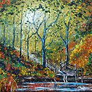 Autumn Pool - Oil Painting by Avril Brand