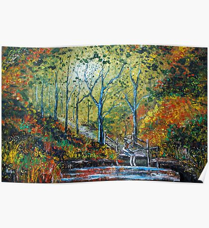 Autumn Pool - Oil Painting Poster