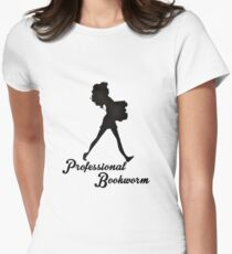 Professional Bookworm Womens Fitted T-Shirt