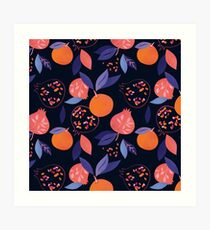 Fruit Gathering  Art Print