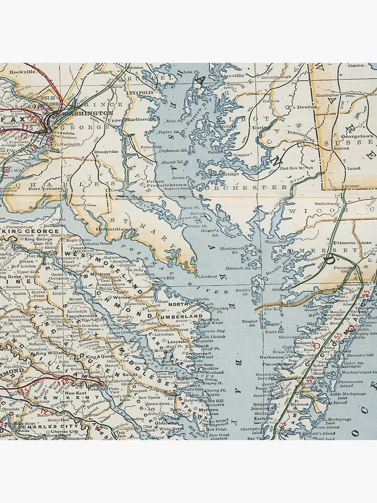 Vintage Map of the Chesapeake Bay (1901) by BravuraMedia