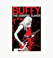 Buffy Rocks Art Print
