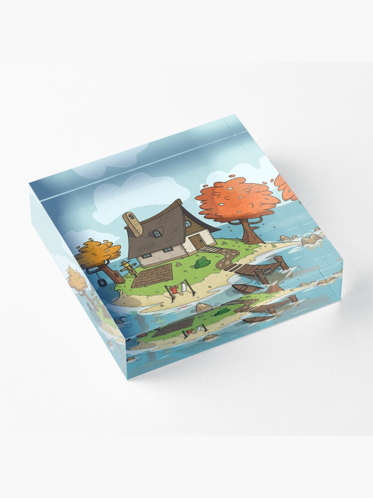 Alternate view of Island Home Acrylic Block