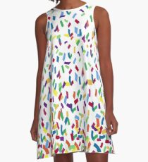 Mickeys Geburtstagskonfetti A-Linien Kleid