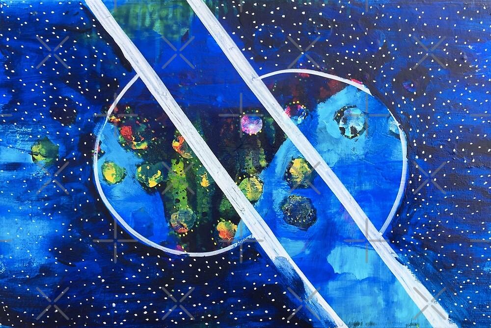 Straddling the Worlds: Inner Power Painting by mellierosetest