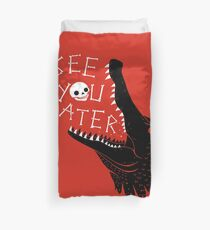 See You Later, Alligator Duvet Cover