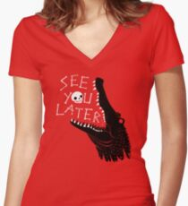 See You Later, Alligator Fitted V-Neck T-Shirt