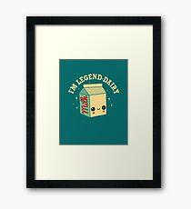 Legend-Dairy Framed Print