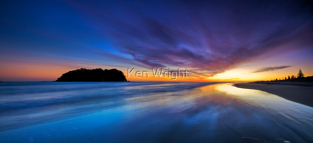 Dreamtime - a place between night and day by Ken Wright