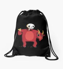 Mascot From Hell Drawstring Bag