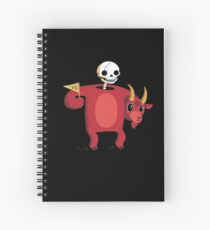 Mascot From Hell Spiral Notebook