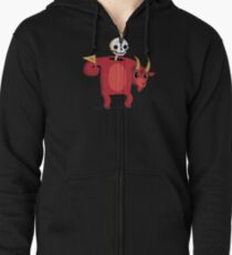 Mascot From Hell Zipped Hoodie