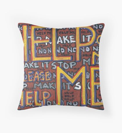 HELP ME - God, Help Me! - Brianna Keeper Painting Throw Pillow