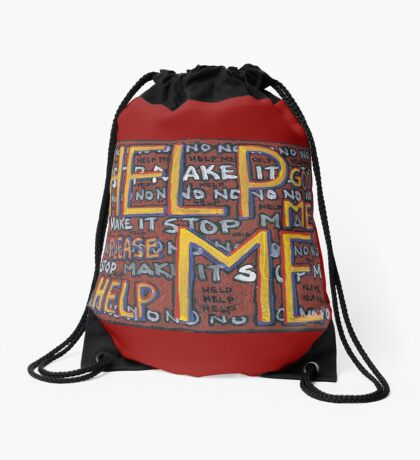 HELP ME - God, Help Me! - Brianna Keeper Painting Drawstring Bag