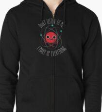 Never Trust An Atom Zipped Hoodie