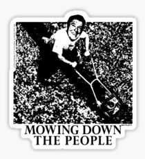 Mowing Down The People - Classic 80's Punk Sticker