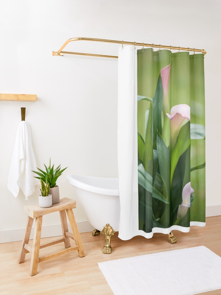 Alternate view of Lily Portrait Shower Curtain
