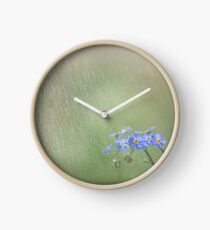Forget Me Not in the Rain Clock