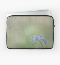 Forget Me Not in the Rain Laptop Sleeve