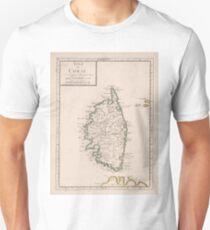 Vintage Karte von Korsika Frankreich (1697) Slim Fit T-Shirt
