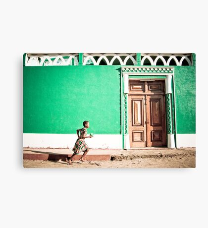 Girl at Green Mosque (IlhaMoç) Canvas Print
