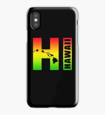 Big Hawaii HI - Rasta Surfer Colors iPhone Case