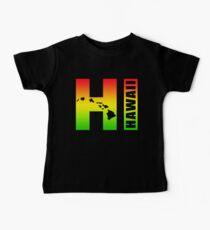Big Hawaii HI - Rasta Surfer Colors Baby Tee