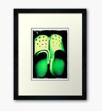 Green Feet Framed Print