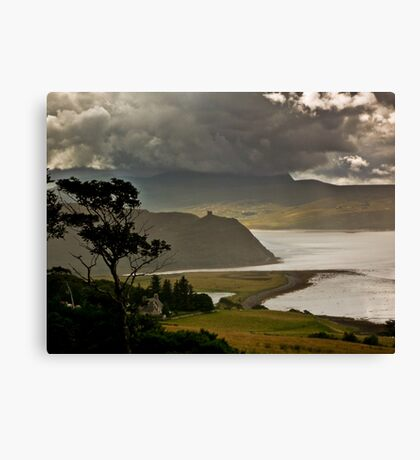 Castle Varrich and The Kyles of Tongue Canvas Print