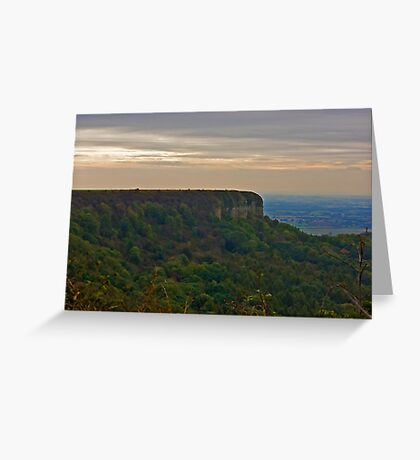 View of Roulston Scar Greeting Card