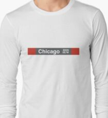 Chicago - Red Line Long Sleeve T-Shirt