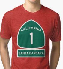 PCH - CA Highway 1 - Santa Barbara Tri-blend T-Shirt