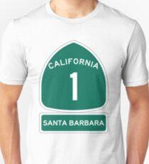 PCH - CA Highway 1 - Santa Barbara Unisex T-Shirt