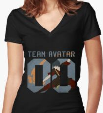 Team Avatar Zuko Women's Fitted V-Neck T-Shirt