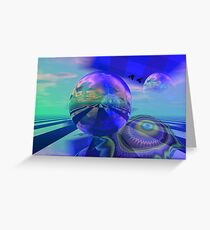 New worlds Greeting Card
