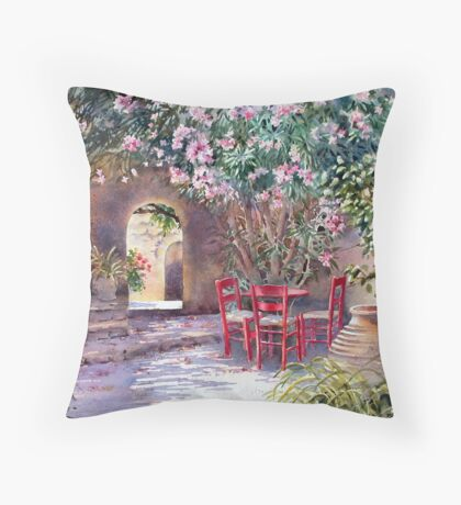 Under the Oleander Tree Throw Pillow